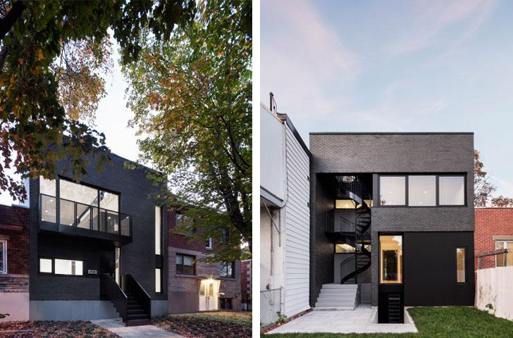 La brique gris foncé de la maison est couverte d'un léger lustre qui réfléchit différemment la lumière selon l'heure du jour et les saisons.