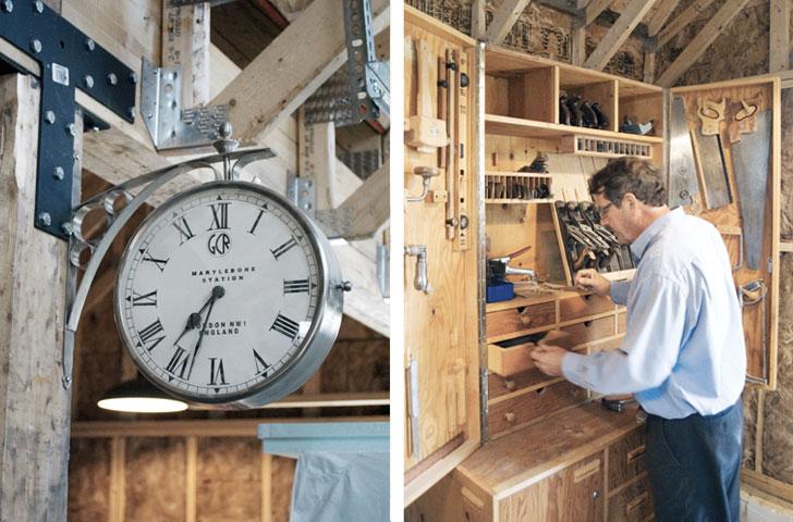 Le client, passionné de menuiserie, souhaitait un atelier tout en bois, qu'il pourrait construire lui-même de ses propres mains.