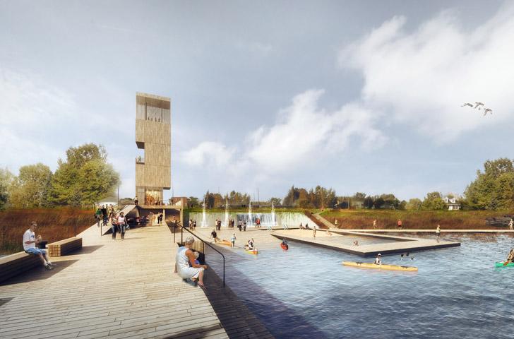 Le projet offre toutes les activités associées à une plage traditionnelle soit jeux et fontaines, rampe de mise à l'eau d'embarcations légères, aire de baignade.