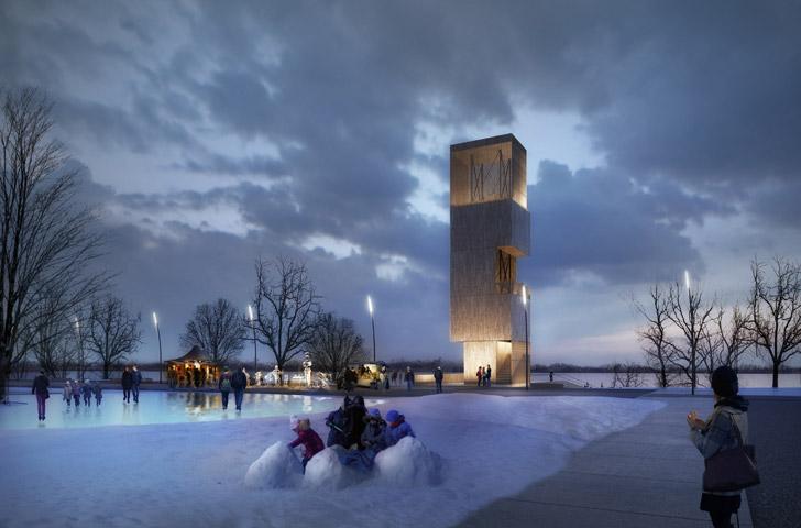 En hiver, le site devient  le point de rendez-vous idéal pour une partie de hockey entre amis, un lieu de jeu enneigé pour les enfants.