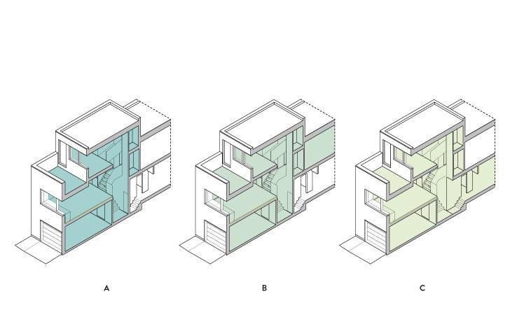 Maison d'arrière-cour, extension d'un des logements ou maison intergénérationnelle, le projet peut revêtir différentes formes.